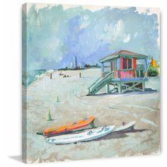 'Quelque Part Sur Terre' Painting Print on Wrapped Canvas