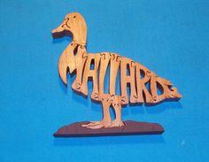 Mallard Duck Wooden Scroll Saw Puzzle by huebysscrollsawart, $12.00