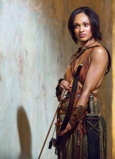 Cynthia Addai-Robinson in 'Spartacus: Vengeance' (2012). x