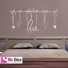 stickers muraux citations sticker dreams heart. Black Bedroom Furniture Sets. Home Design Ideas