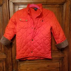 1e41471e279c Polo RALPH LAUREN Boys Youth Size 7 Orange QUILTED PUFFER JACKET Snow Ski  Coat  PoloRalphLauren  PufferJacket  Everyday