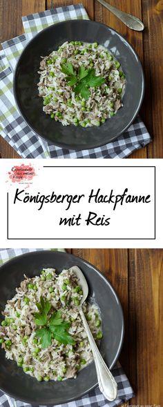 Königsberger Hackpfanne mit Reis   Kochen   Rezept   Essen