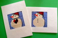 Cute pieced Christmas cards....if i start now, I could have enough to send by 2015...maybe