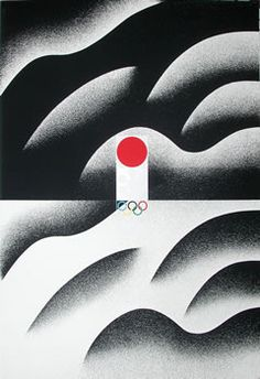 "Another genius of Japanese poster design. Ikko Tanaka established his own studio in Tokyo in 1963, and is credited with developing Muji's identity, where he worked as art director until 2001. You wouldn't believe how much this guy has been ripped-off over the years by other ""poster designers"". This is the real deal; clean, effortless design created with a true illustrator's hand."