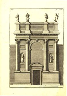 1760 Entrance of the Church of San Canziano by CarambasVintage, $78.00