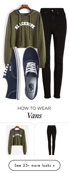 """""""Untitled #542"""" by ria-c on Polyvore featuring Good American and Vans"""