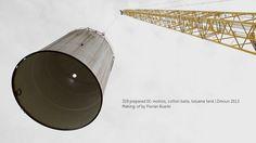 329 prepared dc-motors, cotton balls, toluene tank | Zimoun 2013; Making-of Video by Florian Buerki