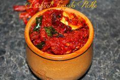 Indian Food and More..: Instant Tomato Pickle | Tomato Thokku | Tomato Uragaya
