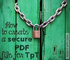 Tutorial Time: How to Create a Secure PDF