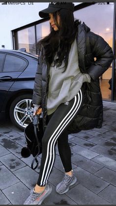 Loot, new age street fashionable visual appeal or approach. Desire to ensemble just like a swaggy? Chill Outfits, Cute Comfy Outfits, Sporty Outfits, Swag Outfits, Mode Outfits, Trendy Outfits, Yeezy Outfit, Adidas Outfit, Winter Fashion Outfits