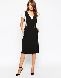 French Connection Sunday Suiting Pinafore Dress