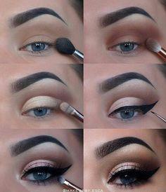 60 Easy Eye Makeup Tutorial For Beginners Step By Step Ideas(Eyebrow& Eyeshadow). - 60 Easy Eye Makeup Tutorial For Beginners Step By Step Ideas(Eyebrow& Eyeshadow), # - Eye Makeup Steps, Simple Eye Makeup, Natural Eye Makeup, Blue Eye Makeup, Smokey Eye Makeup, Eyeshadow Makeup, Eyeshadow Ideas, Natural Eyeshadow, Smoky Eye