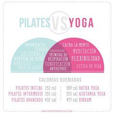 PILATES VS YOGA - Secretos de Chicas by Patry Jordan Yoga Vs Pilates, Pilates Studio, 30 Days Workout Challenge, Patry Jordan, Pilates Benefits, Amy And Jordan, 30 Day Fitness, Yoga Routine, Fitness Inspiration