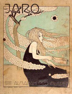 "Vojtěch Preissig (Czech, 1873-1944) - Spring, 1900 (Cover art for Czech magazine, ""Jaro"")"