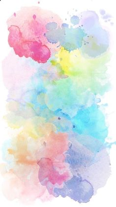 samsung wallpaper watercolor 40 Very Easy Watercolor Painting Ideas For Beginners - FeminaTalk Rainbow Wallpaper, Iphone Background Wallpaper, Trendy Wallpaper, Pretty Wallpapers, Colorful Wallpaper, Aesthetic Iphone Wallpaper, Watercolor Background, Aesthetic Wallpapers, Easy Watercolor