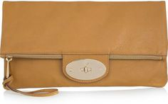 Mulberry Postman's Lock leather clutch