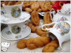 ΚΟΥΛΟΥΡΑΚΙΑ ΜΕ ΠΕΤΙΜΕΖΙ ΠΟΡΤΟΚΑΛΙ ΚΑΙ ΣΟΥΣΑΜΙ!!! Greek Beauty, Tea Cups, Vegan, Cookies, Tableware, Sweet, Blog, Crack Crackers, Candy