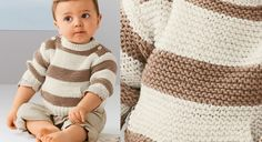 Sweat layette à rayures | Prima
