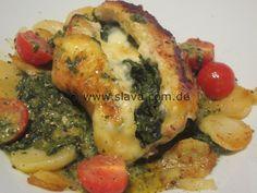 Würzig gefüllte Hähnchenbrustfilets mit Spinat- Käsefüllung « kochen & backen leicht gemacht mit Schritt für Schritt Bilder von & mit Slava