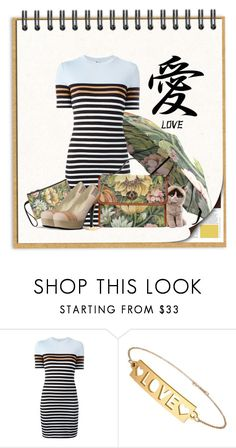 """""""Stripes and Prints"""" by wackyworkshop ❤ liked on Polyvore featuring T By Alexander Wang"""