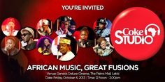 C oca-Cola is premiering a new television show, Coke Studio Africa, in Lagos! A Coca-Cola initiative, Coke Studio Africa brings tog. New Television, Beautiful Body, Youre Invited, Coke, Coca Cola, Body Art, Africa, Bring It On, King
