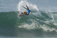Quincey Davis, of Montauk, N.Y.,  competes in the Oakley World Pro Junior Championships surfing event in Bali, Indonesia. (AP/Association of Surfing Professionals)