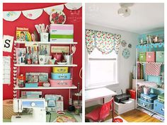 Pretty Retro Craft Room Style - Heart Handmade uk