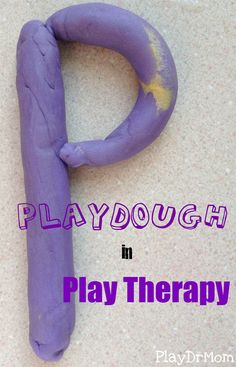 PlayDrMom explains ways to use playdough in Play Therapy