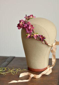 Bridal flower crown rose crown flower headpiece by gardensofwhimsy
