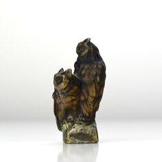 Antique Cold Painted Vienna Bronze Owls / Tree Trunk Miniature Figurine Bergmann | eBay Paint Brass, Great Tit, Owl Tree, Miniature Figurines, Vienna, Polar Bear, Owls, Lion Sculpture, Owl