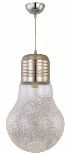 Dupi - Luz colgante de techo bulb, medidas 120 x 29 x 29 cm, color transparente: Amazon.es: Iluminación