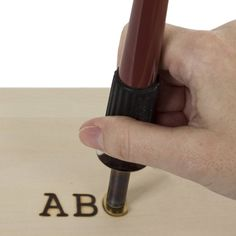 """""""Wood Burning Pen Uppercase Letters Attachments; Letter Hotstamps, Branding Stamps; WoodBurning, Pyrography, Leather Craft Woodburner * Brand New. * 26 uppercase letters * The letters are approximately 5/8 inch tall and the width varies by letter * For branding or personalizing various surfaces including wood, paper, leather, card and gourds * Screw thread provides added security and safety during use * Standard-sized attachments, work with most wood-burning pens and tools * Hot Woodburning Tool Essential Woodworking Tools, Antique Woodworking Tools, Woodworking Supplies, Woodworking Bench, Woodworking Classes, Grizzly Woodworking, Woodworking Forum, Unique Woodworking, Woodworking Techniques"""