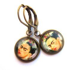 Frida Kahlo Earrings Boho Day of the Dead Dia de los Muertos