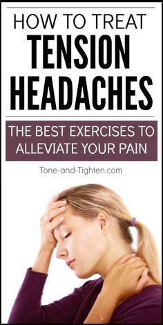 Check out the best exercises to alleviate tension headache pain. Physical therapy stretches you can do at home to decrease headache pain and neck tension. Relieve Tension Headache, How To Relieve Stress, Chronic Tension Headaches, How To Relieve Headaches, Chronic Migraines, Chronic Pain, Daily Health Tips, Health And Fitness Tips, Health Advice