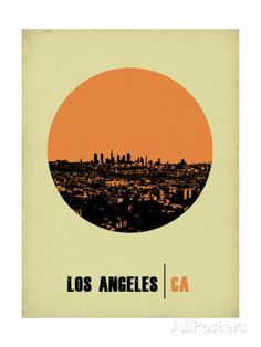 Los Angeles Circle Poster 2 Poster by NaxArt at AllPosters.com