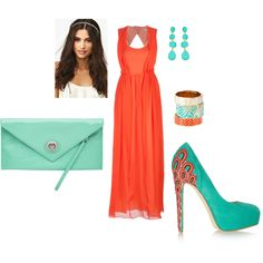 """""""Coral Summer"""" by shopahaulica on Polyvore"""