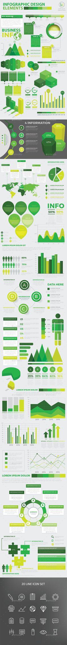 Modern Infographic Elements Design Templates Vector EPS, AI Illustrator. Download here: http://graphicriver.net/item/modern-infographic-elements-design/16724024?ref=ksioks