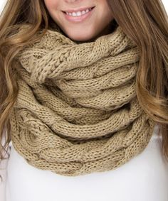 Look what I found on #zulily! Camel Cable-Knit Infinity Scarf by Gertie & Baxter #zulilyfinds