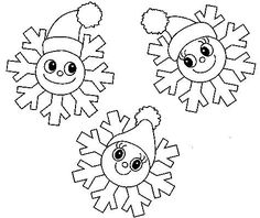 snowflake coloring pages is a trio of snowflakes that look like court jesters having the time of their life smiling as the fall and gently drift Snowflake Coloring Pages, Snowman Coloring Pages, Printable Christmas Coloring Pages, Christmas Worksheets, Christmas Templates, Free Christmas Printables, Christmas Snowflakes, Christmas Colors, Winter Christmas