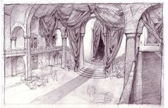 Living Lines Library: Hotel Transylvania - Visual Development: Environment Background Drawing, Landscape Background, Animation Background, Environment Concept Art, Environment Design, Hotel Transylvania 2012, Storyboard Drawing, Sketching Techniques, Fantasy Castle