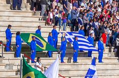 Handover Ceremony for the Olympic Flame at the Panathenaic Stadium Athens Greece. Photo by Evangelia Pasiou @evangelapasiou  #dreamingreece #travelguide #athens #ancientolympia #olympicflame #olympicgames #panathenaicstadium #rio2016 #greece #brasil