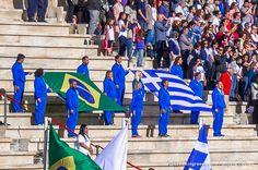 Handover Ceremony for the Olympic Flame at the Panathenaic Stadium Athens Greece. Photo by Evangelia Pasiou @evangelapasiou  #dreamingreece #travelguide #athens #ancientolympia #olympicflame #olympicgames #panathenaicstadium #rio2016 #greece #brasil
