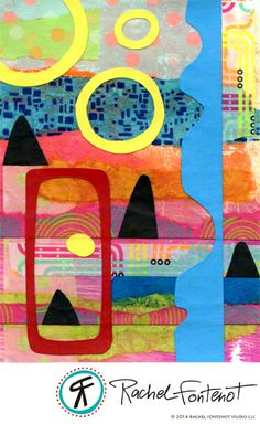 Rachel Fontenot - Collage Circle #1 - mixed media paper collage