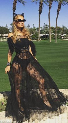 Goes her own way: Paris Hilton completed ignored standard Coachella fashion rules and went...