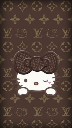 Pin by teresa suarez on wall paper hello kitty луи виттон, ф Hello Kitty Iphone Wallpaper, Hello Kitty Backgrounds, Sanrio Wallpaper, Cellphone Wallpaper, Hello Wallpaper, Mobile Wallpaper, Hello Kitty Art, Hello Kitty Themes, Hello Kitty Pictures