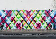 Maya Hayuk's Finished Mural on Houston & Bowery Wall: Screen shot 2014-02-10 at 12.46.08 PM.png