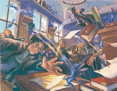 """Pixie Mayhem"" Harry Potter Art By Mary GrandPré • For The Love of Harry"