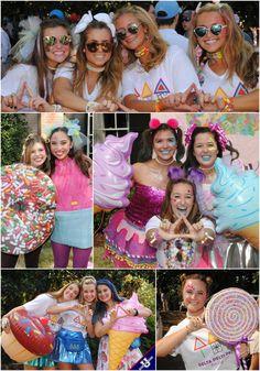 Be Sweet on Greek with a yummy candy theme bid day! Tri Delta, Alpha Chi, Delta Gamma, Sigma Kappa, Sorority Recruitment Themes, Candy Land Theme, Bid Day Themes, Sweet Like Candy, Sorority Sugar