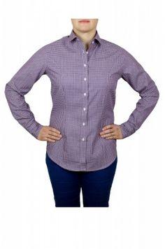Fialová dámska košeľa