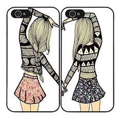 CHK 1 Pair Pretty Teen Girls Best Friend BFF Heart Matching Hard Case Cover for iPhone 5/5S